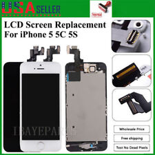 For iPhone 5 5C 5S LCD Touch Screen Full Replacement Assembly With Home Button