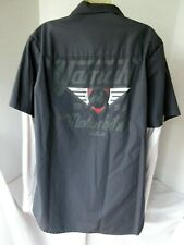 Yamaha Motorbikes USA Retro Shop Style Men's Shirt Lg Long Slv Motorcycle Patch