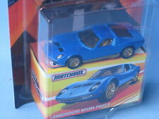 Matchbox Lamborghini Miura P400 Blue Body Classic Italian Toy Model Sports Car