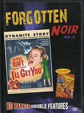 I'LL GET YOU & FINGERPRINTS DON'T LIE~VG/C DVD~FORGOTTEN NOIR DOUBLE FEATURE