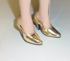 "Doll Shoes, Monique  MET GOLD ""Easy to Wear"" Fit Tonner American Model"