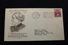 PATRIOTIC COVER 1938 1ST DAY ISSUE 16TH ANNIV WOMEN'S RIGHT TO VOTE (264)
