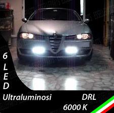 COPPIA LUCI DIURNE DRL 6 LED BIANCHI DAYLIGHT PER ALFA 156