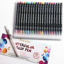 20 Colors Watercolor Marker Pen Soft Brush Calligraphy Sketch Drawing Painting