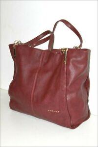 Sisley Bag Shopping Synthetic Leather PVC Bordeaux Worn Shoulder,Vgc ,