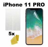 5 x Clear Plastic Screen Guard LCD Protector Film Layer - Apple iPhone 11 PRO