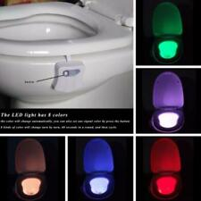 8 Color Smart LED Motion Sensor Automatic Toilet Night Light Bowl Bathroom Lamps