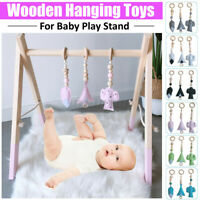 3Pcs/Set Wooden Hanging Toys Decoration for Play Activity Frame Baby