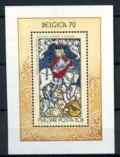 Hungría 1972 SG#MS2685 Belgica Sello sobreimpresión. estampillada sin montar o nunca montada m/s #A36761