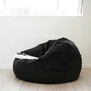 """Lovely 1 PC 48""""x48""""x27"""" Black Velvet Bean Bag Chair Without Beans at Best Price"""