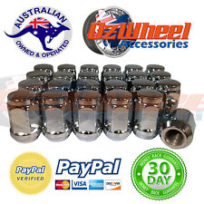 Chrome Wheel Nuts TOYOTA LANDCRUISER 12X1.5 X 24 HILUX ALL TOYOTA MODELS