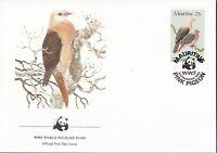 Mauritius 1985 FDC MiNr. 609-612 WWF Rosentaube