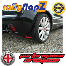 rallyflapZ SUZUKI IGNIS Sport 03-05 Mud Flaps  Black 'S' Logo Red (3mm PVC)