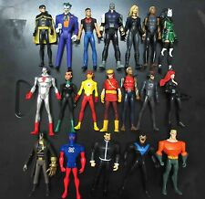 LOT 19 DC UNIVERSE YOUNG JUSTICE JLU CHESHIRE ROBIN JOKER BLACK CANAR FIGURE #G