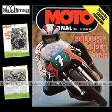 MOTO JOURNAL N°231 24 HEURES 24H DE LIEGE FORMULE 750 BULTACO SHERPA 350 '75