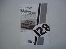 advertising Pubblicità 1971 FIAT 128 RALLY 1300