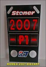 1:12 Pit board - pitboards Casey Stoner World Champion 2007 to minichamps NEW