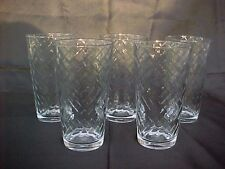 5 Pasabahce PAB7 Basketweave Tumblers Inside Texture Design Turkey Numbered