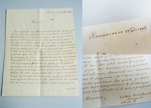 Nobility Letter Hanover 1766 (H.De P Erwähnung Stettin. Lettre Française Hanovre