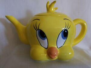 Vintage Tweety Bird Face Ceramic Teapot 1997