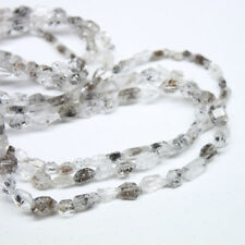 Natural Herkimer Diamond Quartz Faceted Nugget Loose Beads Strand 11mm 6mm 16""