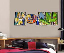 Dragon Ball Z Personalized Name Custom Decal Wall Sticker Mural Graphic Goku