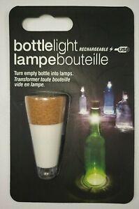 Bottle Cork Light USB Rechargeable -Turn a Bottle into a Lamp !! Decorative Fun