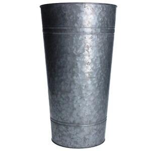 Large Metal Galvanized Planter / Slim Bucket / Vase by Gisela Graham
