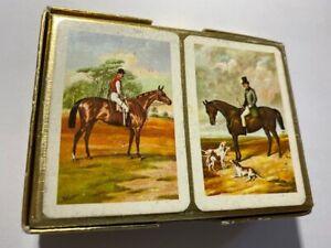 Vintage PIATNIK Grand Prix PATIENCE Miniature Playing Cards 2-Pack Set VIENNA