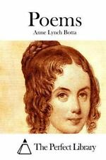 Poems by Anne Lynch Botta (2015, Paperback)