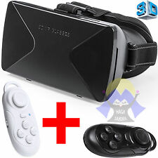 OCCHIALI Virtuali VR Realta' + GAMEPAD 3D Smartphone CONTROLLER Wireless VISORE