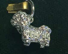 Pekingese dog sterling charm from Rqc discontinued!