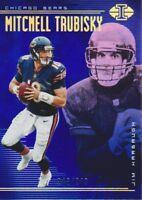 2018 Panini Illusions Blue #41 Mitchell Trubisky/Jim Harbaugh /249 Chicago Bears