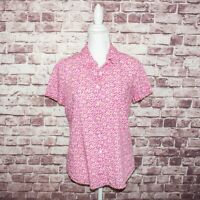 LIBERTY ART FABRICS for J.CREW Women's Button up Blouse Pink Floral Size 6