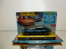 CORGI TOYS 335 4.2 LITRE JAGUAR E TYPE 2+2 - BLUE 1:43 - GOOD IN CARD BLISTER