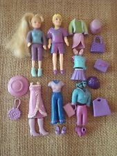 "Polly Pocket Lot ""Colors of the Rainbow"" Purple Girl & Boy Outfits Clothing Q97"