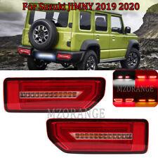 Set LED Rear Brake Tail Lamps Bumper Reflector Lights For Suzuki Jimny 2019 2020