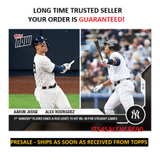 2020 Topps Now AARON JUDGE & ALEX RODRIGUEZ Yankees #49 - LIMITED PR /1830 MADE