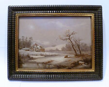 HUDSON RIVER SCHOOL WINTER SNOWS OIL PAINTING- BY CHARLES VOLKMAR 1862 - LISTED