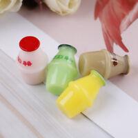 4PCS Dollhouse miniature toy milk bottle home decor scene   sf ITHWC
