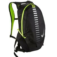 7dc57e7204 Nike Run Commuter Backpack 15L Men Women Black Volt Reflective NRI101054NS