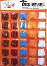 30 Gancio Appendino Adesivo Universale 1 Posto Bagno Cucina Colori Vari Cartella