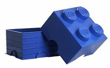 Lego Storage Brick - 4 Knob - Blue - Great storage option for all the family