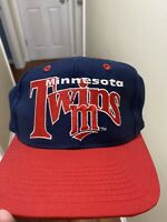 Vintage 90s The Game Minnesota Twins Fitted Hat Cap Size 7 1/2 MLB