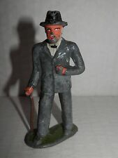 "Vintage Barclay Manoil #619 Man with Cane - 3"" tall (BROKEN CANE)"