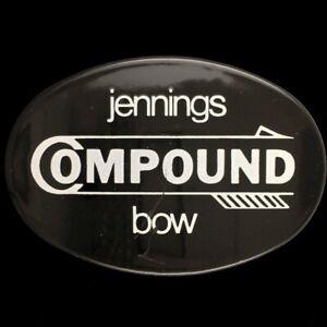 Vtg Old Jennings Compound Bow Arrow Bear Archery Rare Hunting Brass Belt Buckle