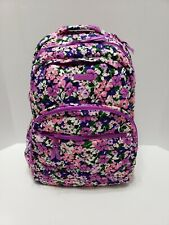 Vera Bradley Essential Large Quilted Backpack Flower Garden