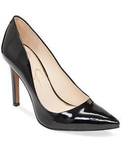 Jessica Simpson Women's Cassani Pointed Toe Pump Size 7.5M Black Patent