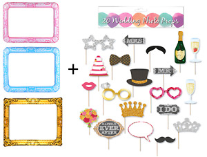 Wedding Party Photobooth Props + Inflatable Photo Frame Selfie Booth Celebration