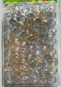 Gold and Silver sparkle medium hair beads for braids, twists, locs or crafts